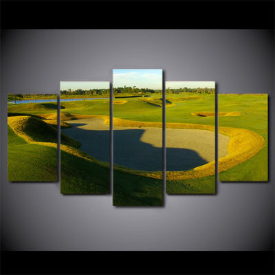 Limited Edition 5 Piece Green Hills Golf Course Canvas