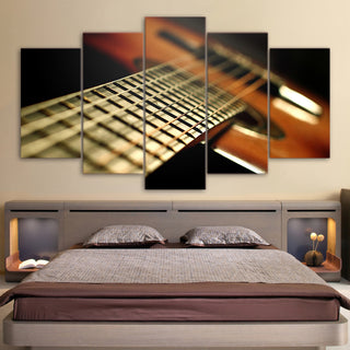 Limited Edition 5 Piece String Guitar Canvas