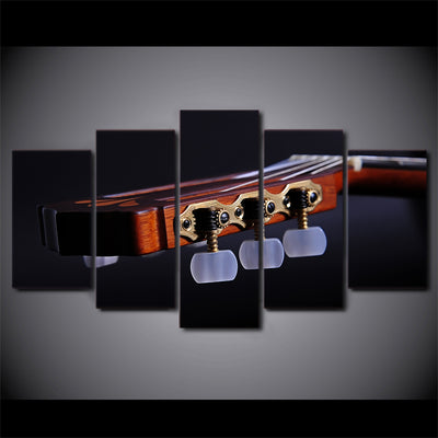 Limited Edition 5 Piece Guitar Headstock Canvas