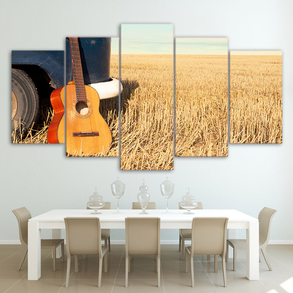 Limited Edition 5 Piece Guitar In The Ricefield Canvas