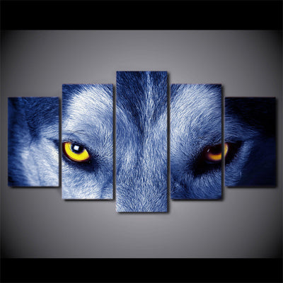 Limited Edition 5 Piece Wolf Eyes Canvas