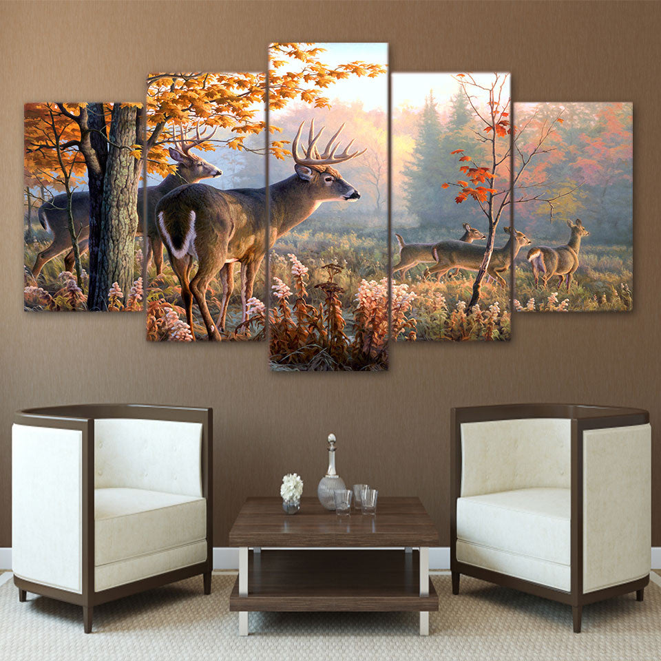 Limited Edition 5 Piece Deer Canvas