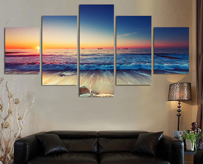 Limited Edition 5 Piece Gorgeous Sea Shore Canvas
