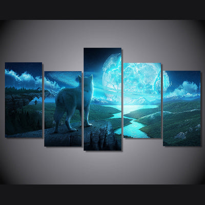 Limited Edition 5 Piece Wolf Universe Canvas