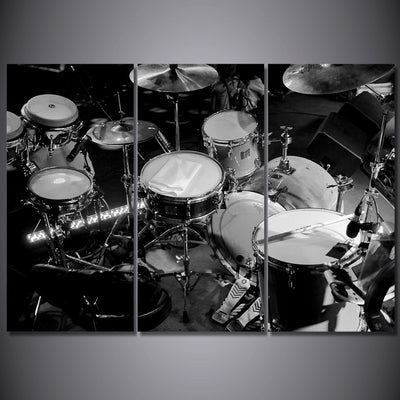 Limited Edition Black And White Drums Canvas