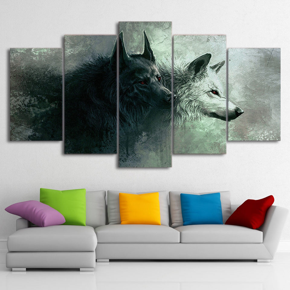 Limited Edition 5 Piece Wolf Lover Canvas