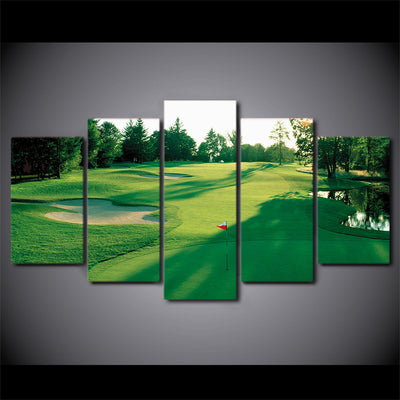 Limited Edition 5 Piece Golf Scenery Canvas