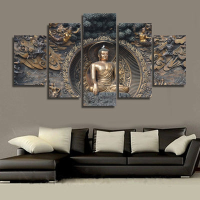 Limited Edition 5 Piece Calm Buddha Canvas