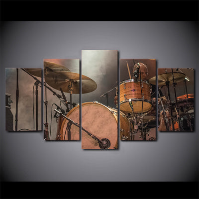 Limited Edition 5 Piece Metallic Drums Canvas