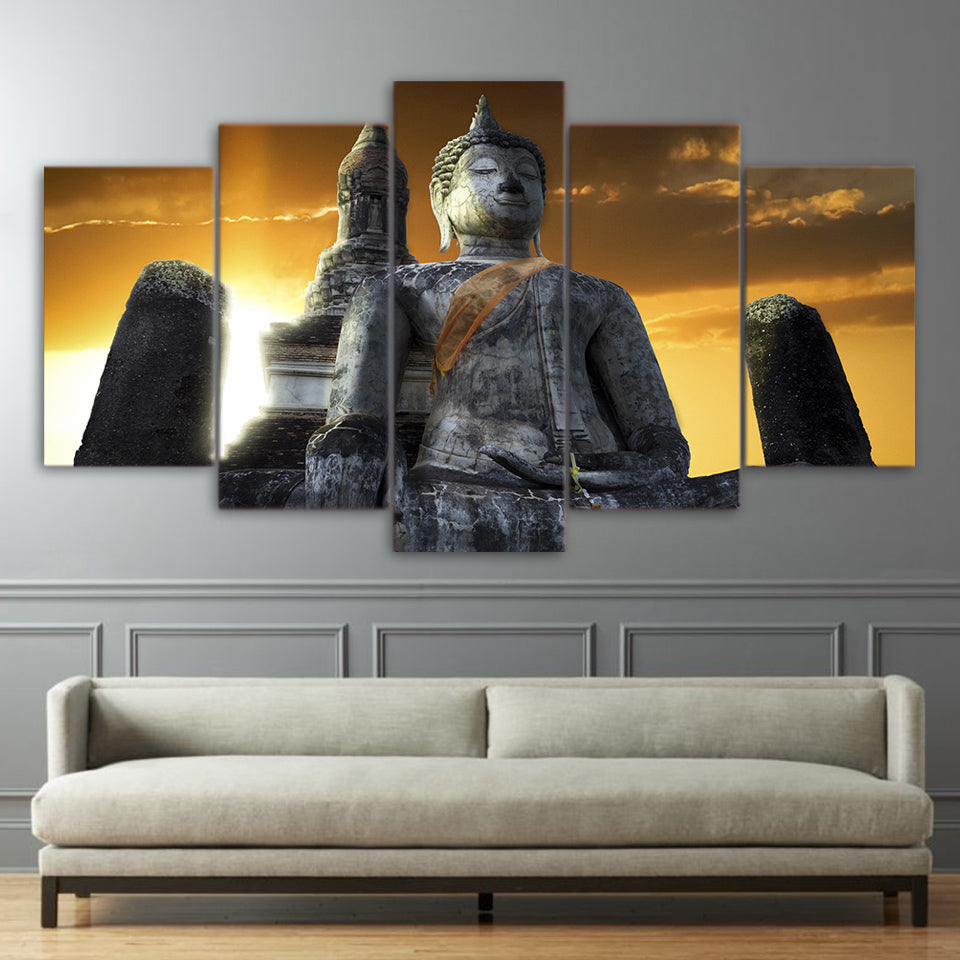 Limited Edition 5 Piece Buddha Sky Canvas