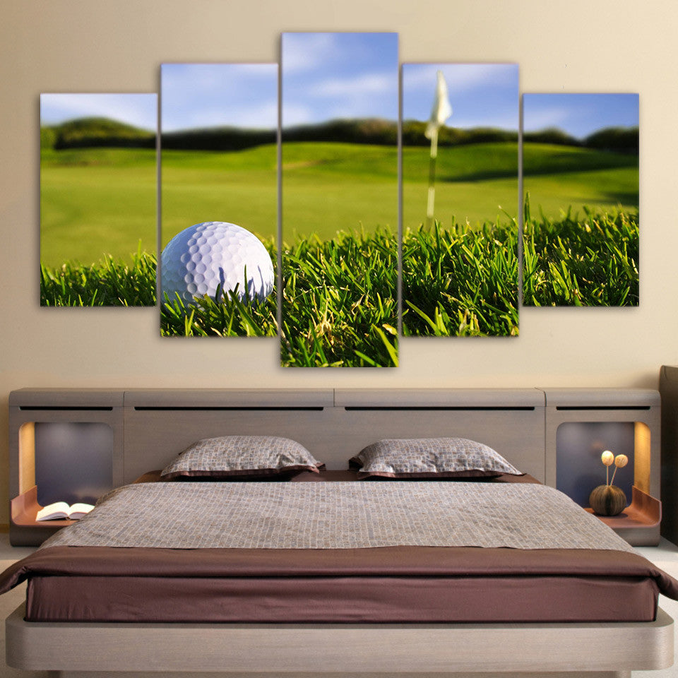Limited Edition 5 Piece Hole In One Canvas