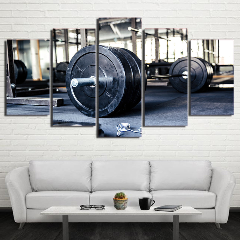 Limited Edition 5 Piece Barbell Canvas