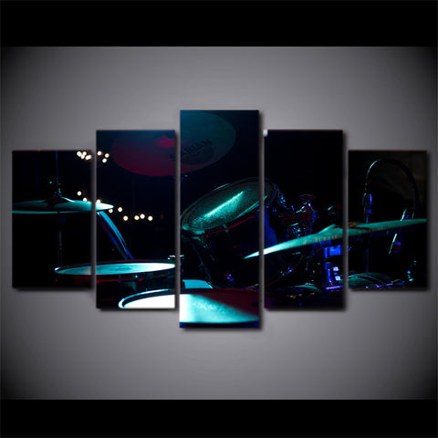 Limited Edition 5 Piece Drum Spotlight Canvas