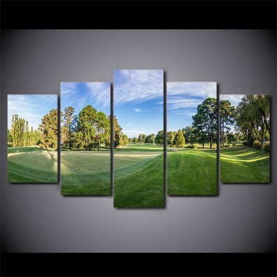 Limited Edition 5 Piece Green Wavy Golf Course Canvas