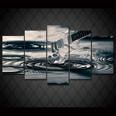 Limited Edition 5 Piece Transparent Guitar Canvas