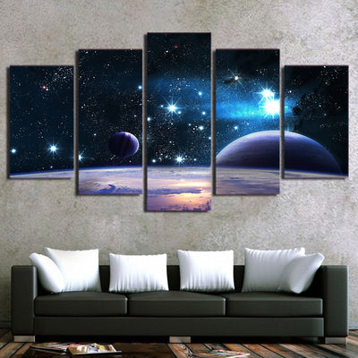 Limited Edition 5 Piece Space Galaxy Canvas