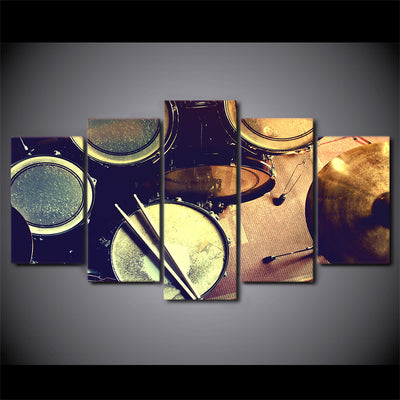 Limited Edition 5 Piece Metal Drums Canvas