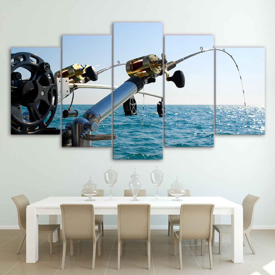 Limited Edition 5 Piece Modern Fishing Tool Canvas