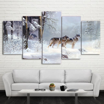 Limited Edition Snowy Forest Wolf Canvas
