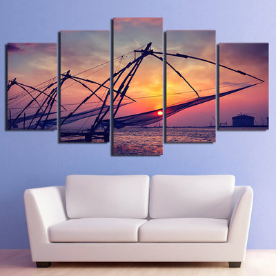 Limited Edition 5 Piece Ocean Fishing Canvas