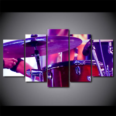 Limited Edition 5 Piece Purple Drum Canvas