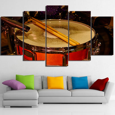 Limited Edition 5 Piece Red Drum With Drumstick Canvas