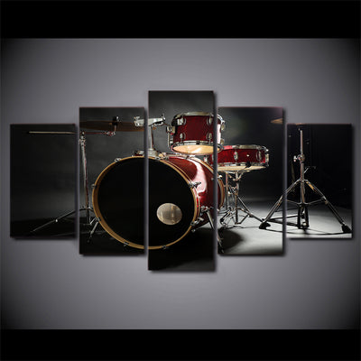 Limited Edition 5 Piece Red Drum Set Canvas
