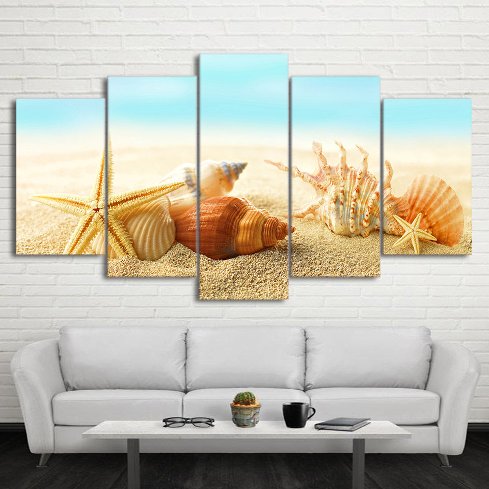 Limited Edition 5 Piece Sea Shells Canvas