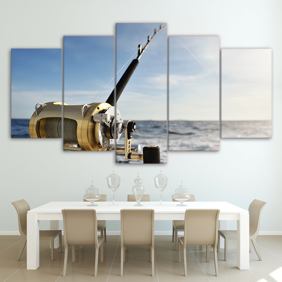 Limited Edition 5 Piece Sea Fishing Rod Canvas