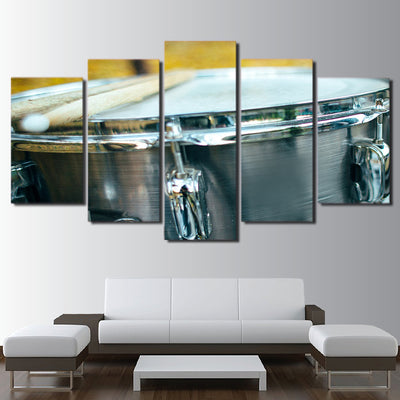 Limited Edition 5 Piece Silver Drum Canvas