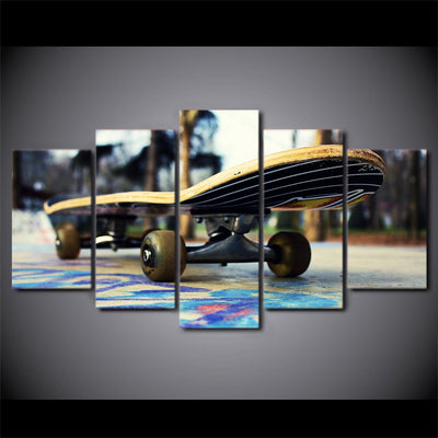 Limited Edition 5 Piece Colorful Skateboard Canvas