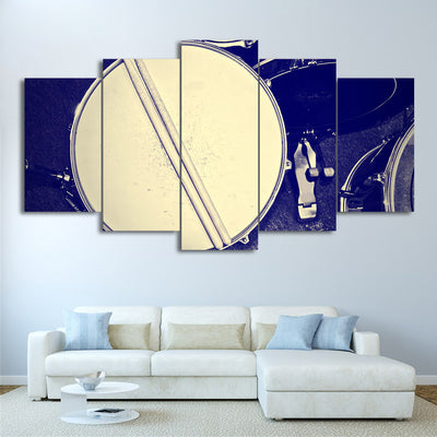 Limited Edition 5 Piece Snare Drum And Drumsticks Canvas