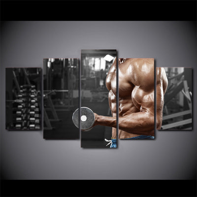 Limited Edition 5 Piece Strong Muscles Canvas