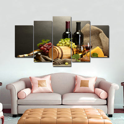 Limited Edition 5 Piece Wine In Complete Set Canvas