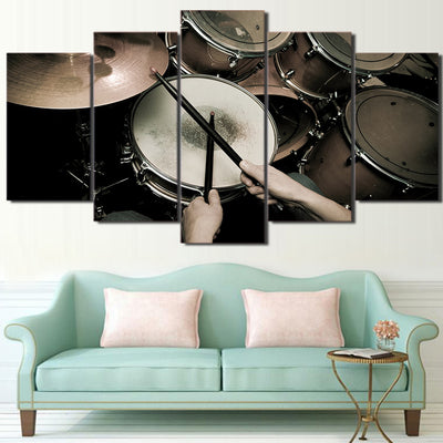 Limited Edition 5 Piece Vintage Drum Set Canvas