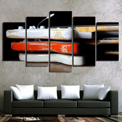 Limited Edition 5 Piece Vintage Classic Guitar Canvas