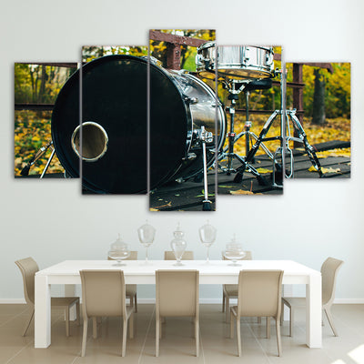 Limited Edition 5 Piece Vintage Drum Canvas