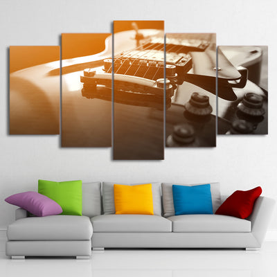 Limited Edition 5 Piece Vintage Classical Guitar Canvas