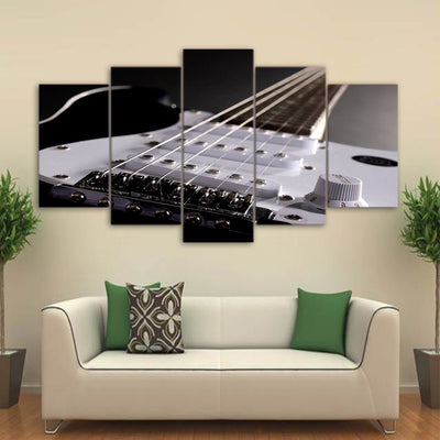 Limited Edition 5 Piece White Electric Guitar Canvas