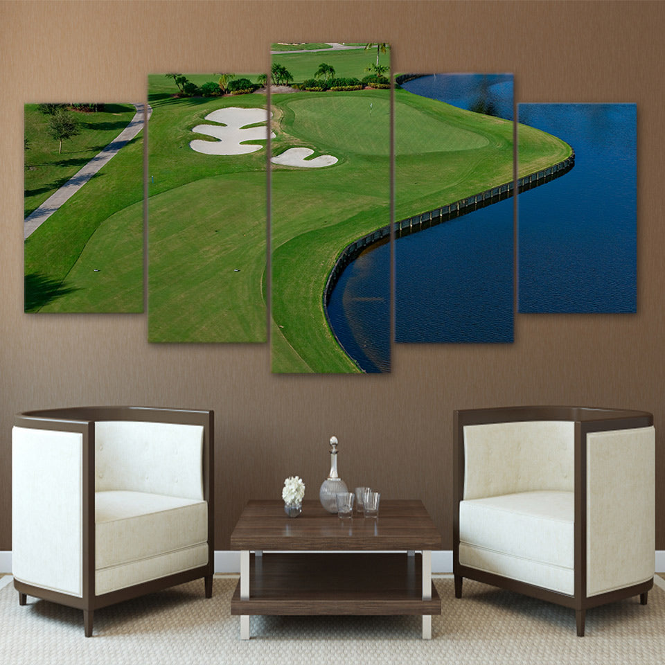 Limited Edition 5 Piece Wide Golf Course Beside The Lake Canvas