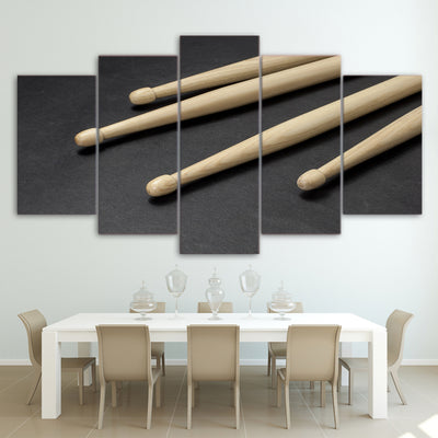 Limited Edition 5 Piece Wooden Drumsticks Canvas