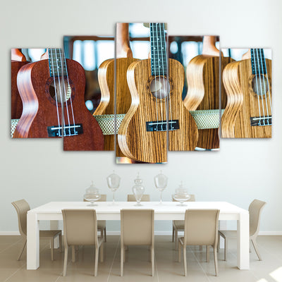 Limited Edition 5 Piece Ukeleles Canvas