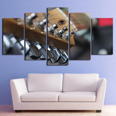 Limited Edition 5 Piece Guitar Pegs Canvas