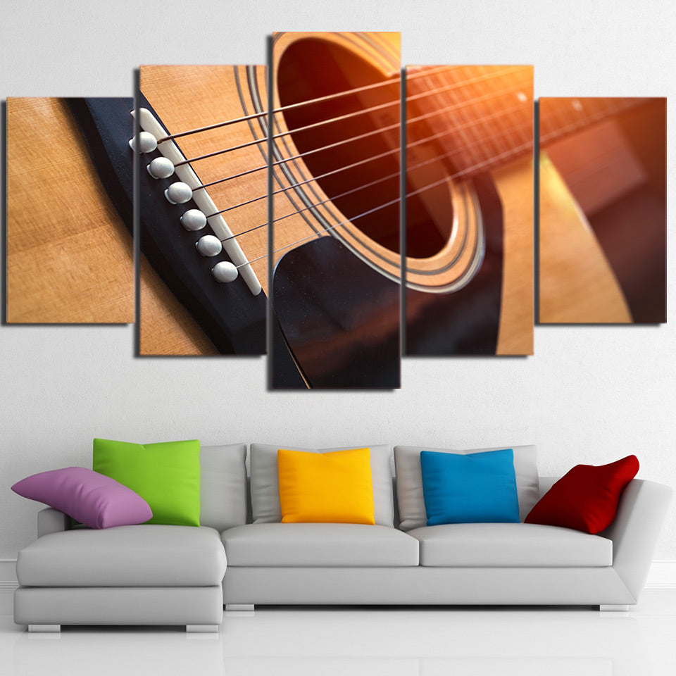 Limited Edition 5 Piece Gorgeous Guitar Sound Hole Canvas