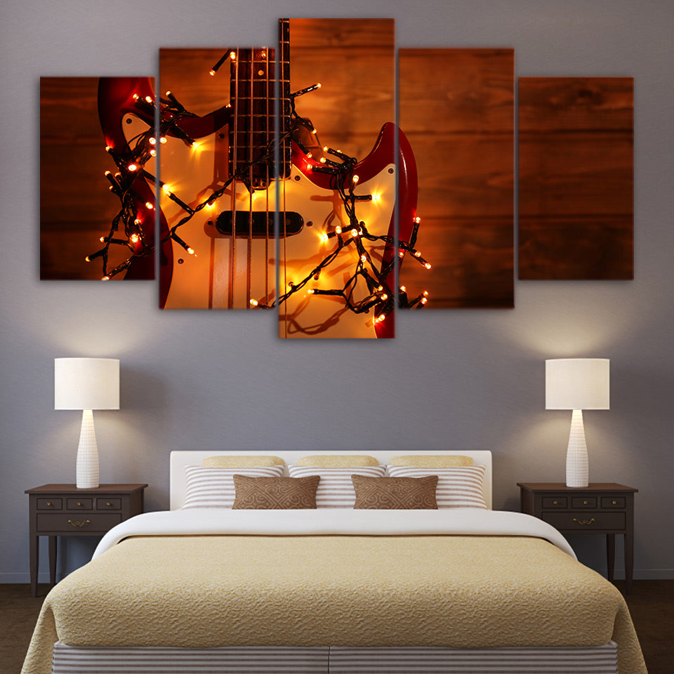 Limited Edition 5 Piece Electric Guitar With Lights Canvas