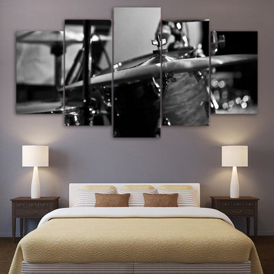 Limited Edition 5 Piece Cymbals And Drum Canvas