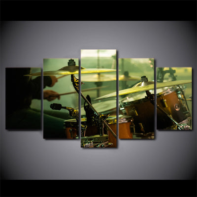 Limited Edition 5 Piece Cymbals And Drums Canvas