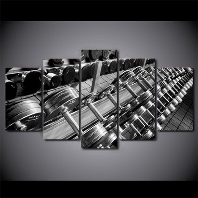 Limited Edition 5 Piece Dumbbell Canvas (FRAMED)