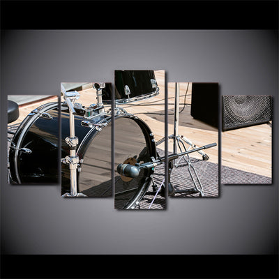 Limited Edition 5 Piece Amazing Black Bass Drum Canvas