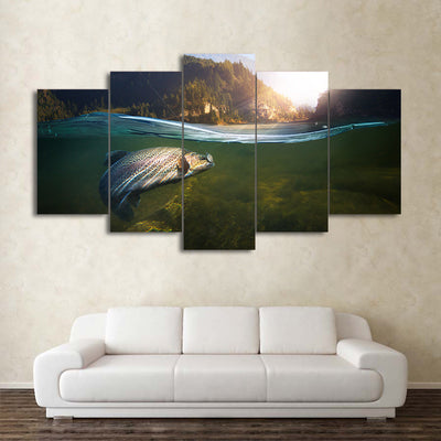 Limited Edition 5 Piece Fishing In the River Canvas